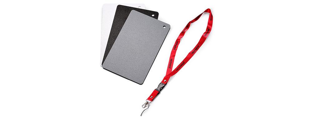 white balance con gray card